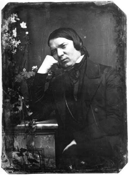 Robert Schumann in an 1850 daguerreotype