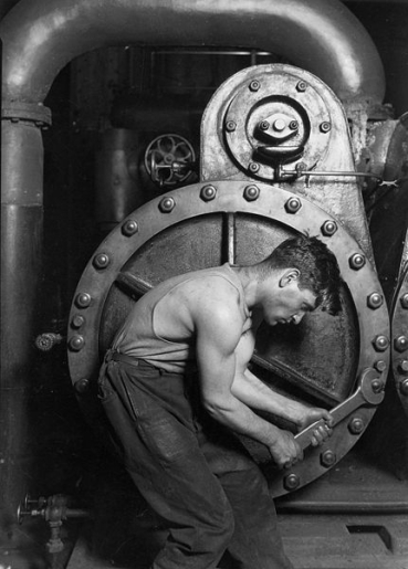 working Lewis hine photo