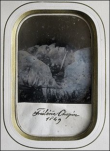 Chopin on deathbed photo