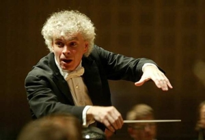 Simon Rattle conducting