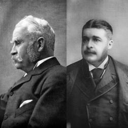 Gilbert and Sullivan (left)