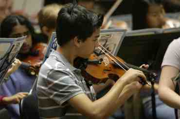 WYSO Concert Orchestra violins
