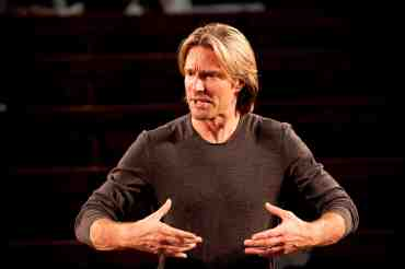 Composer conductor Eric Whitacre, in rehearsal and concert at Union Chapel, Islington, London