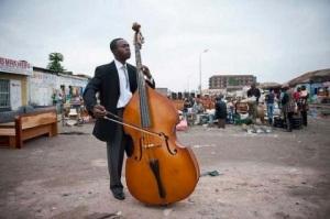 Kinshasa Symphony bassist