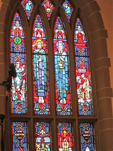 MBM Grace stained glass window