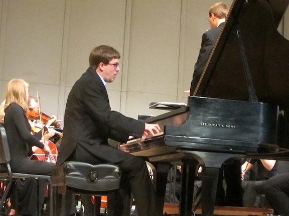 Middletopn Community Orchestra Thomas Kasdorf playing