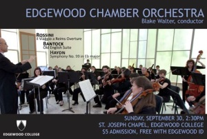 Edgewood Chamber Orchestra poster Sept 12