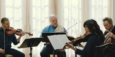 A Late Quartet rehearsing all 4