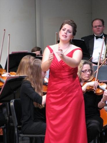 Emily Birsan performing
