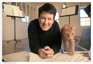 Jennifer Higdon and cat Beau