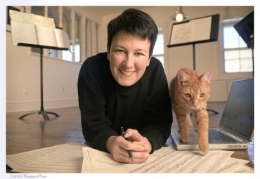 Jennifer Higdon and cat Beau