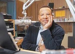 Jonathan Overby in radio studio
