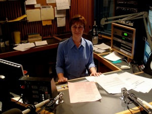 joy cardin at wpr studio