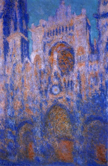 monet rouen cathedral in blue
