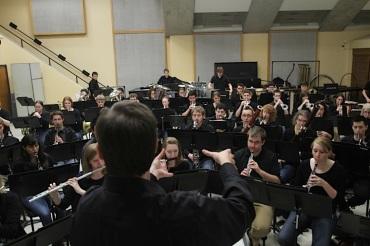 UW Wind Ensemble rehearsal