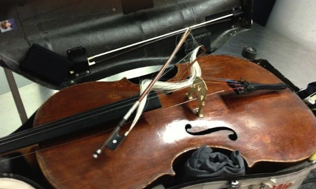 Alban Gerhardt broken cello bow