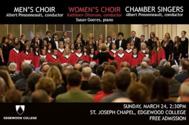 Edgewood Men's and Women's Choirs and Chamber Siungers 3-24-13