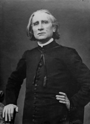 Liszt photo portrait by Pierre Petit 1870