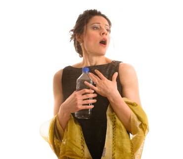 real divas 4 woman singing with water bottle