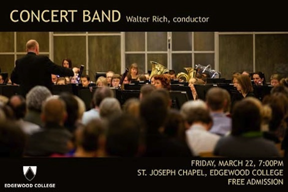 Walter Rich  Edgewood Concert Band 2013-3-22-Band