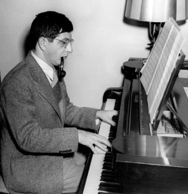 Bernard Herrmann at piano