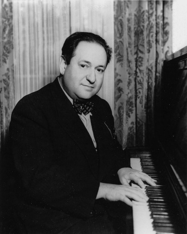 erich wolfgang korngold at piano