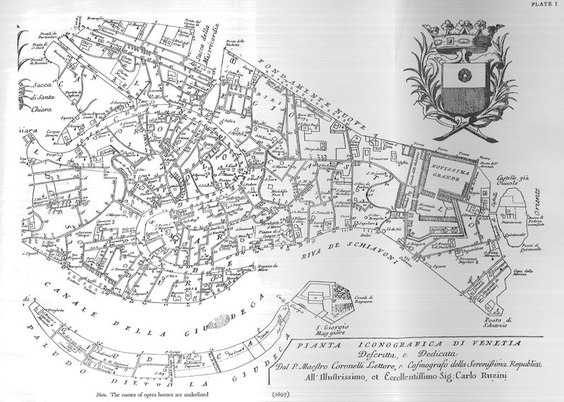 Map of 17th century Venice