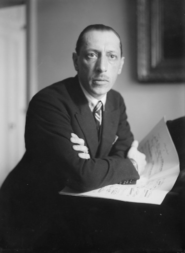 Igor Stravinsky young with score 2