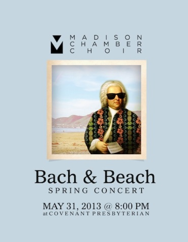 Madison Chamber Choir poster May 2013