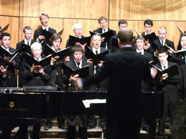 uw men's choir close up