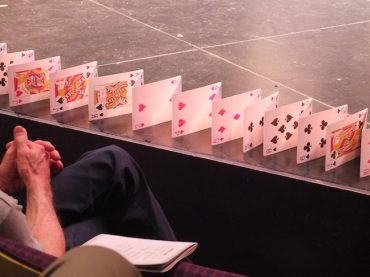 BDDS 2013 playing cards on stage