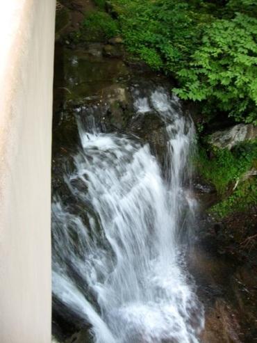 Fallingwater's waterfall