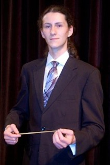 Mikko Utevsky with baton