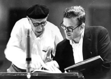 Robert Craft (right) with Igor Stravinsky