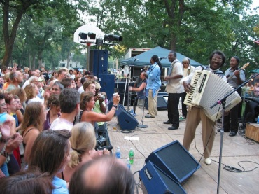 Buckwheat Zydeco performing at the Orton Park Festival, 2006