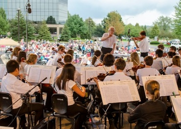 WYSO Concert in the Park, playing under Jim Smith 3