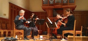 Ancora Quartet with flutist Robin Fellows CR John W. Barker