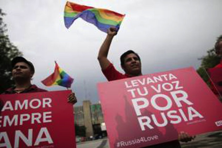 gay rights march in russia,jpg