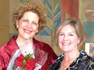 Kathleen Otterson (l) and pianist Susan Goeres