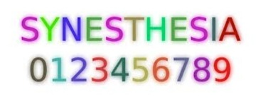synesthesia numbers, letters, colors