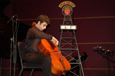 Benjamin Solomonow playing cello on NPR's %22From the Top%22