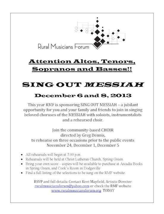 Rural Messiah 2013 poster 2