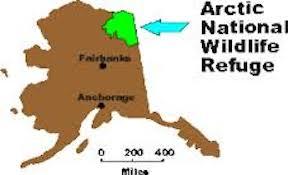 Arctic Wildlife Refuge map