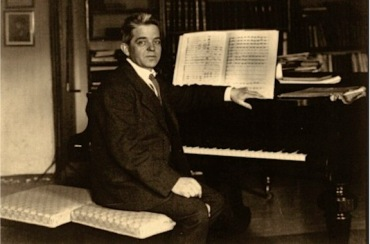 Carl Nielsen at piano
