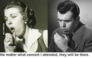 Coughers at concerts