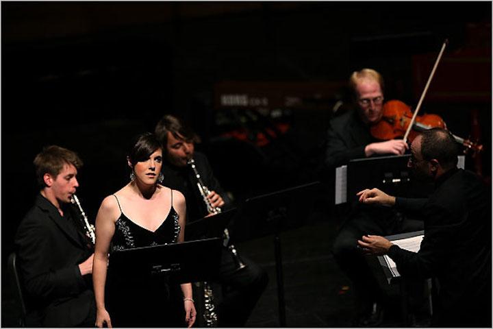 Mary Mackenzie ii in Harrison Birtwistle's %22Thee Settings of Celan%22 with the Juilliard School's Axiom Ensemble NYT