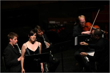 Mary Mackenzie ii in Harrison Birtwistle's %22Thee Settings of Celan%22 with the Juilliard School's Axiom Ensemble NYT