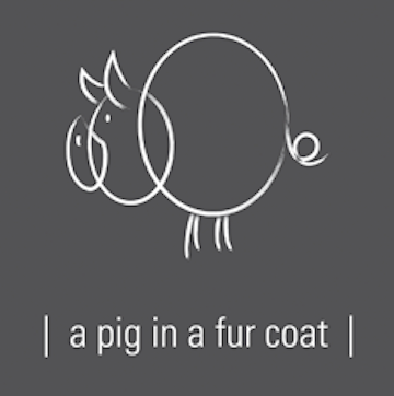 A Pig in a Fur Coat logo