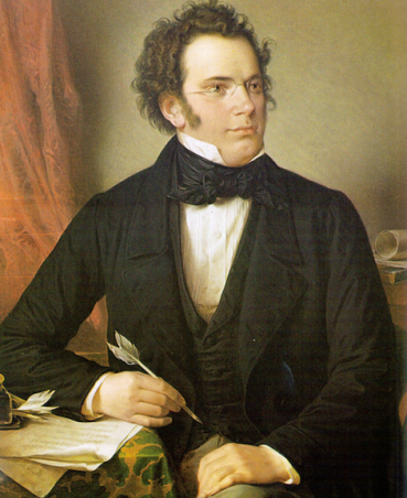 Franz Schubert writing