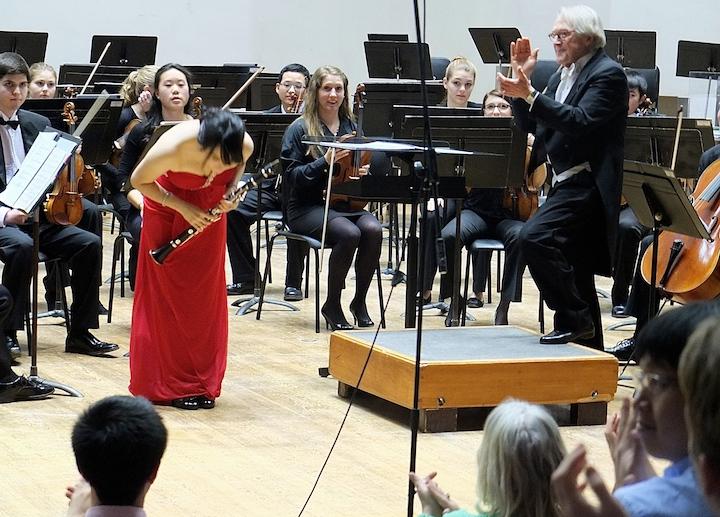 James Smith and UW Symphony Orchestra with clarinet soloist Kai-Ju Ho